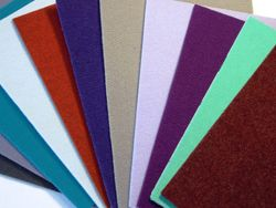 Coloured non woven needled felt